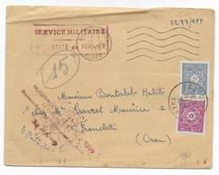 1955 - ALGERIE - ENVELOPPE FM De HUSSEIN DEY => FRANCLETTI (ORAN) Avec TAXE - Marcophilie (Lettres)