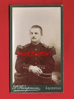 1 Photo Sur Carton... Photographe Paul RAMPONNEAU Rue De L'Orne ARGENTAN Militaire  104e - Anonyme Personen