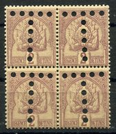 RC 10178 TUNISIE TAXE N° 10 - 2c CHIFFRE GRAS BLOC DE 4 PERFORÉ EN T NEUF ** TB - Timbres-taxe