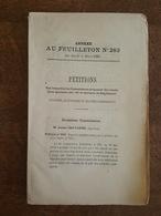 1880 - Feuilleton Pétitions 66 Pages - Lyon, Riverie, Saint Affrique, Saint Cloud, Saint Etienne, Tesselin, Chatres Sens - Décrets & Lois