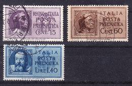 1933 1945 POSTA PNEUMATICA DANTE 15 + 60 C GALILEO 1,40 Cent  USATO - 1900-44 Vittorio Emanuele III