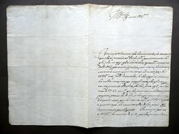 Manoscritto Grazia Concessa Per Gioco Con Carte Forestiere Bologna 1703 Debito - Non Classificati