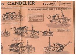 Et CANDELIER à BUCQOY (P D C ) SPECIALITE CHARRUES BRABANT DOUBLES ET BRABANTS BISOCS DOUBLES - Publicités
