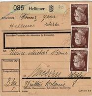 TP N°713 En 3 Ex ( Y&T ) Sur Colis Postal De Hellimer Pour Mövern - Alsace-Lorraine