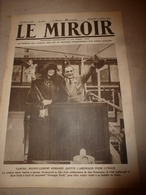 1919 LE MIROIR:Caruso;Bruxelles;Sous-marin Postal US;Fiancées D'Ecaussines-Lalaing;Eruption Java;Marchand De Chiens;etc - Français