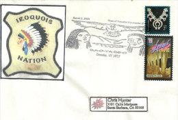 USA. Tribu Seneca (Iroquois Nation) Enveloppe Souvenir De Caneadea. Etat De New-York - American Indians