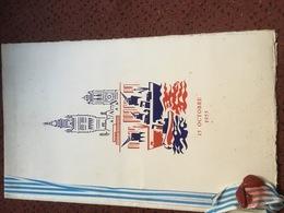 DEJEUNER OFFERT EN L'HONNEUR DE Mr RENE COTY . 15 OCTOBRE 1955  . - Menus