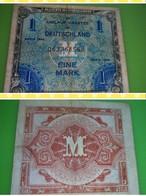WW2 - Billet Libération - US Army  1 Mark Alliierte Militärbehörde - [ 5] 1945-1949 : Bezetting Door De Geallieerden
