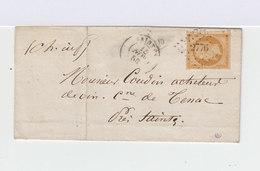 Sur Lettre Second Empire Napoléon  10 C Bistre. Oblitération Losange. CAD Saintes 1958. (725) - French Southern And Antarctic Territories (TAAF)