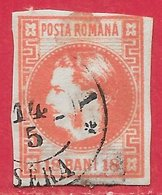 Roumanie N°20a 18b Rose 1868-70 O - 1858-1880 Moldavia & Principality