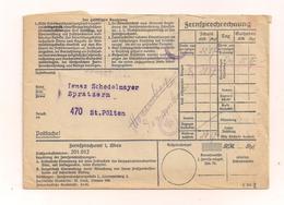 Alte Fernsprechrechnung - Um 1939 - Austria