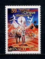 MONACO 2015 N° 2953 ** Neuf MNH Superbe Faune éléphants Festival Cirque Clown Chapiteau Acrobates Animaux - Nuovi