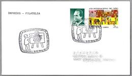 CONCURSO FILATELICO ESCOLAR - PINTURA. Sabadell 1990 - Arte