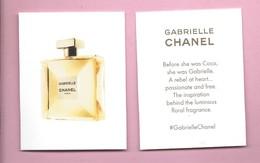 CHANEL GABRIEL * USA * V/R - Perfume Cards