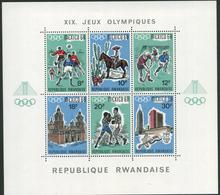 1968 Rwanda, Giochi Olimpici Del Messico, Foglietto Nuovo (**) - 1962-69: Nuovi