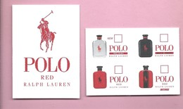 RALP LAUREN * POLO  RED   * USA * V/R - Perfume Cards