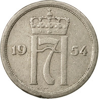 Monnaie, Norvège, Haakon VII, 25 Öre, 1954, TTB, Copper-nickel, KM:401 - Norvège