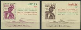 1967 Rwanda, Esposizione Filatelica Europa A Napoli, Foglietti Nuovi (**) - 1962-69: Nuovi