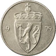 Monnaie, Norvège, Olav V, 50 Öre, 1979, TTB, Copper-nickel, KM:418 - Norvège
