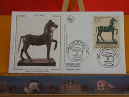 Trésor De Neuvy En Sullias - Cheval De Bronze Gallo Romain - Orléans (45) - 8.6.1996 - FDC 1er Jour Coté 5€ - 1990-1999