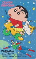 Télécarte Japon / 110-011 - MANGA - CRAYON SHIN-CHAN ** Moto & SUPERMAN ** - ANIME COMICS Japan Phonecard - 10655 - Comics