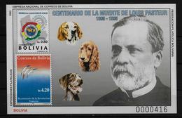 BOLIVIE   BF  * *  NON DENTELE  Medecine Pasteur Chiens - Louis Pasteur