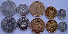 RUANDA RWANDA 2003 SERIE 5 MONETE 50-20-10-5-1 AMAFAR FDC UNC. - Rwanda