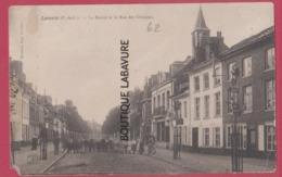 62 - LAVENTIE----La Mairie Et La Rue Des Clinques--animé - Laventie