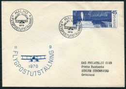 1970 Sweden Greenland Flight Cover. Malmo Flygpostutstallning Slania - Brieven En Documenten