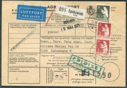 1975 Greenland Parcelcard Adressekort Egedesminde - Copenhagen. Slania Polar Bear - Greenland