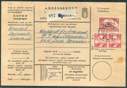 Greenland Parcelcard Adressekort Upernarvik - Copenhagen - Greenland