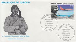 Enveloppe  FDC  1er  Jour    DJIBOUTI    Louis  BLERIOT   Traversée  De  La  Manche    1984 - Djibouti (1977-...)