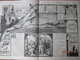 Gravure  D Epoque  1863 TURQUIE  Le Vieux Serail     Coutumes   Moeurs  Et Costumes  Pointe Du  CONSTANTINOPLE - Old Paper