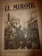 1919 LE MIROIR: Agram(Yougo-slavie;Douvres-Ostende;Weimar;Wimy Et Son Charbon;Valenciennes;Hydravion NCI;etc - Revues & Journaux