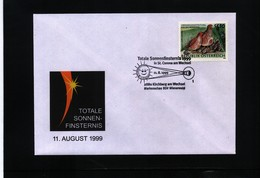Austria 1999 Total Solar Eclipse Interesting Cover - Astronomie