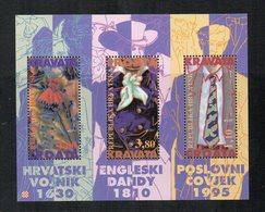 """Croazia - 1995 - Foglietto """"Storia Della Cravatta """" - 3 Valori - Nuovo - Vedi Foto - (FDC12276) - Croazia"""