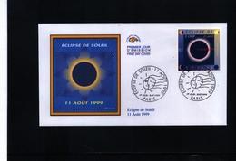 France 1999 Total Solar Eclipse Interesting FDC - Astronomia