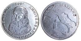 05182 GETTONE TOKEN JETON COMMEMORATIVE LEONARDO DA VINCI GENIO ITALIANO - Italy