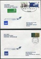 2000 Sweden Germany SAS First Flight Covers (2) Stockholm  / Hannover. Nobel Prize - Airmail