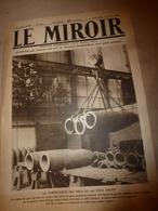 1919 LE MIROIR:Obus 420 KRUPP à Essen;Les Françaises épousent Les Soldats Américains Et Anglais;L'AQUITANIA Fautif;etc - Français