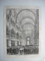 GRAVURE 1876. PARIS. INAUGURATION DE LA SYNAGOGUE DE LA RUE DES TOURNELLES. - Estampes & Gravures