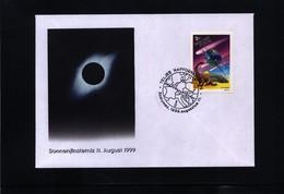 Hungary 1999 Total Solar Eclipse Interesting Postmark - Astronomia