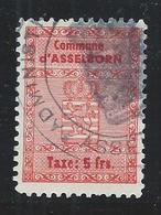 Taxe Communale Asselborn - 5 Francs - Fiscaux