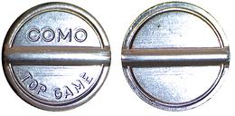 01359 GETTONE TOKEN JETON SALA GIOCHI ARCADE COMO TOP GAME ,5LOMBARDIA - Italy