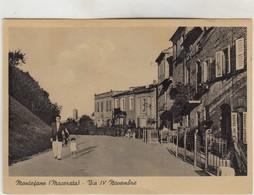 MONTEFANO -VEDUTA-VIA IV NOVEMBRE1942 - Macerata