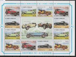 1983  S. Tome Et Principe  N° BF   Nf** . MNH .  Bloc-Feuillet .Histoire De L'Automobile. - Sao Tome And Principe