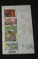 "3710/14** Blok 148** ""Olivetti, Mac, Olympia, Royal, Remington"" Wie Schrijft, Die Blijft - Les écrits Restent MNH Pl 3 - Blocks & Sheetlets 1962-...."