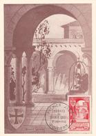 Carte-Maximum FRANCE N° Yvert 926 (ABBAYE DE SAINTE CROIX à POITIERS) Obl Sp 1er Jour (Ed FDC) - 1950-59