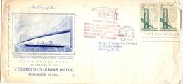USA N.Y. STATEN ISLAND  FDC VERRAZANO  NARROWS BRIDGE 1964 (SET180220) - Ponti