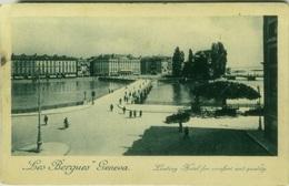 SWITZERLAND - LES BERGUES '' GENEVA - LEADING HOTEL FOR CONFORTABLE AND QUALITY - 1920s ( BG394) - GE Geneva